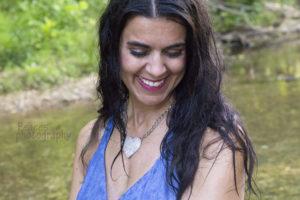 creek, beautiful, woman, dress, jean, heart, woods, gorgeous, creative, photography