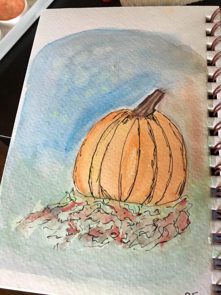 pumpkin, leaves, fall, halloween,