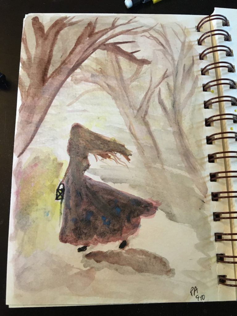 woman, girl, woods, fall, light, winter, dreams, fairytale