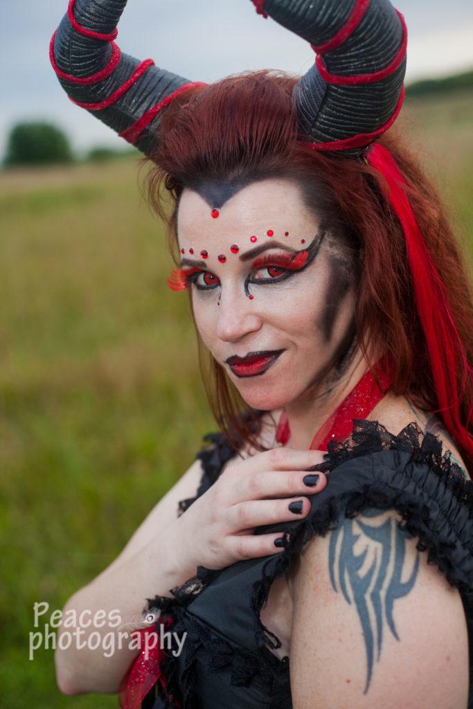 circus, freak show, freaks, shoot, unique, gypsy, gypsies, horns, red eyes